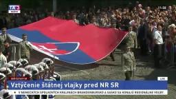 Slávnostné vztýčenie štátnej vlajky a príhovor A. Danka