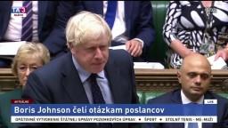Vystúpenie B. Johnsona pred britskými poslancami