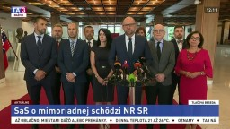 TB predstaviteľov strany SaS po neotvorení mimoriadnej parlamentnej schôdze