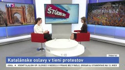 ŠTÚDIO TA3: Vyslankyňa K. Schreiber o katalánskych oslavách v tieni protestov