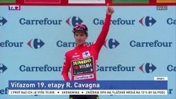 Francúz Cavagna je víťazom 19. etapy Vuelty, na čele stále Roglič