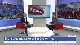ŠTÚDIO TA3: Tréner M. Hýll o štarte Ligy Majstrov a Európskej ligy