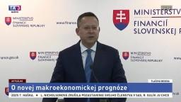 TB ministra financií L. Kamenického a E. Hagara o makroekonomickej prognóze