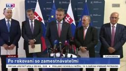 TB premiéra P. Pellegriniho po rokovaní so zamestnávateľmi