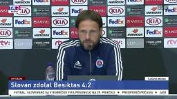 TB po zápase ŠK Slovan Bratislava - Besiktas Istanbul
