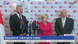TB P. Pellegriniho, Ľ. Laššákovej a J. Cirana o výjazdovom rokovaní vlády