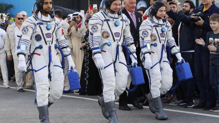 K ISS vyštartovala nová posádka, letí i prvý arabský kozmonaut