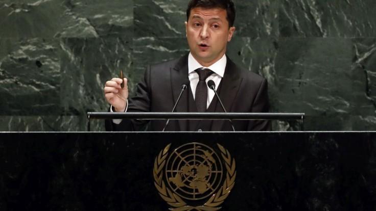 Zelenskyj v OSN vyzval lídrov, aby pomohli ukončiť spor s Ruskom