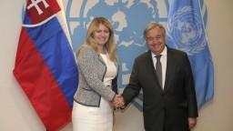 Čaputovú prijal šéf OSN. SR označil za klimatického ťahúňa