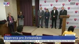 TB A. Danka a predstaviteľov SŽZ o opatreniach pre živnostníkov