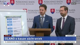 TB M. Krajčího a E. Hegera zo strany OĽANO o kauze záchraniek