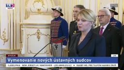 Vymenovanie ústavných sudcov prezidentkou Z. Čaputovou