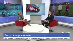 ŠTÚDIO TA3: Výkonná riaditeľka LPR E. Kováčová o pohybe ako prevencii
