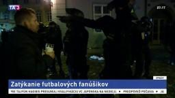Pred futbalom v Prahe vyvádzali chuligáni, útočili aj na políciu