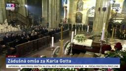 Zádušná omša za K. Gotta v pražskej Katedrále sv. Víta