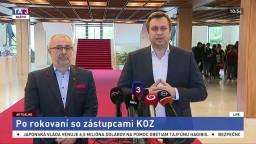 TB A. Danka a M. Magdoška po rokovaní so zástupcami KOZ