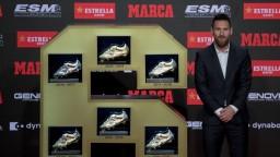 Messi si prevzal šiestu Zlatú kopačku, získal ju po tretíkrát za sebou