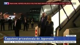 Čaputová priletela do Japonska, na úvod ju prijme premiér Abe