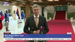 Reakcia B. Bugára k vyjadreniu predsedu parlamentu A. Danka