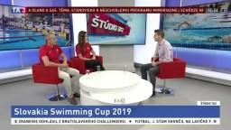 ŠTÚDIO TA3: B. Grznárová a I. Šulek o Slovakia Swimming Cupe 2019