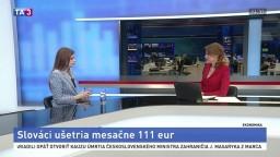 HOSŤ V ŠTÚDIU: Analytička L. Buchláková o šetrení Slovákov