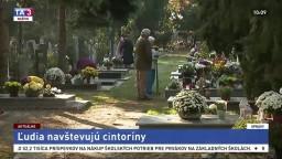 Ľudia navštevujú cintoríny. Pripomíname si Sviatok všetkých svätých