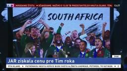 Ragbisti JAR získali po titule majstrov sveta i cenu za tím roka