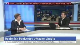 HOSŤ V ŠTÚDIU: Analytička J. Marková o úbytku osobných bankrotov