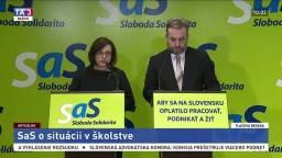 TB predstaviteľov SaS Z. Zimenovej a O. Dostála o situácii v školstve