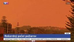 Austráliu trápi rekordné množstvo požiarov, ľudí vyzývajú k evakuácii