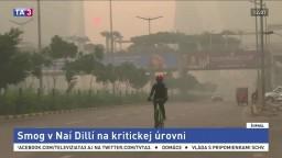 Indickú metropolu sužuje smog, ľudia majú problém s dýchaním