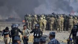 Protest stúpencov exprezidenta prerástol do potýčok, hlásia obete