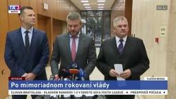 TB predstaviteľov vlády po mimoriadnom rokovaní o justícii a dôchodkoch