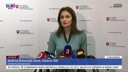 TB ministerky A. Kalavskej o odmietnutí stratifikácie a ponúknutí postu