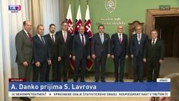 Prijatie ruského ministra S. Lavrova v parlamente A. Dankom