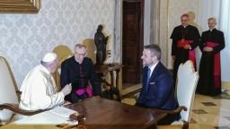 Pellegriniho prijal pápež, slovenský premiér mu odovzdal dary