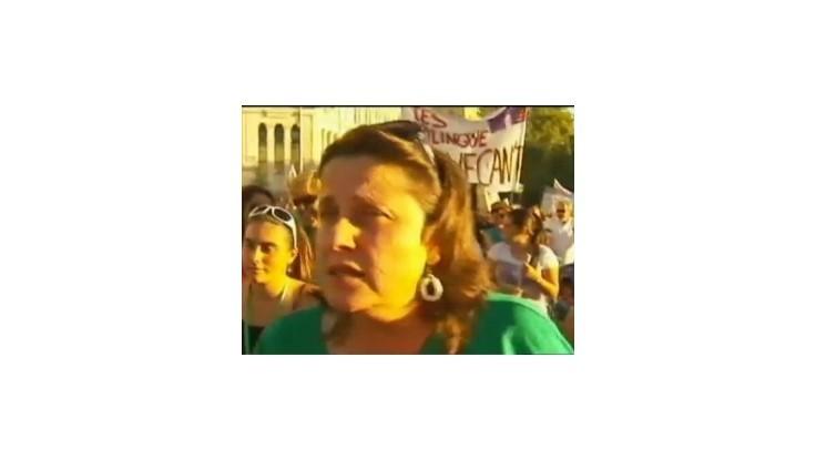 Učitelia v Španielsku už druhý deň protestovali proti prepúšťaniu