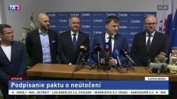 TB PS/Spolu, KDH, SaS a Za ľudí po podpísaní paktu o neútočení