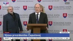 TB poslanca NR SR J. Pašku o výzve pre prezidentku Čaputovú