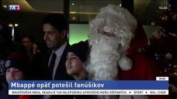 Mbappé sa v rámci charitatívneho projektu prezliekol za Santa Clausa