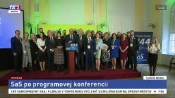 TB predstaviteľov strany SaS po programovej konferencii