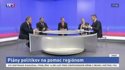 Politici v TA3 vysvetlili, aké sú ich plány na pomoc regiónom