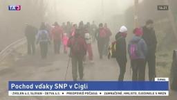 V obci Cigeľ si turistickým pochodom uctili pamiatku SNP