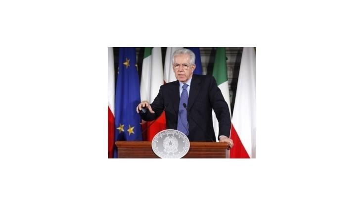 Rím potrebuje iba morálnu podporu Nemecka, tvrdí Monti