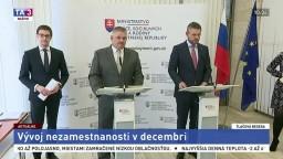 TB P. Pellegriniho, J. Richtera a M. Valentoviča o vývoji nezamestnanosti