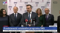 TB predstaviteľov strany SNS o volebnom programe