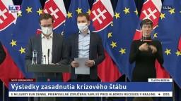 TB I. Matoviča a M. Krajčího o výsledkoch zasadnutia krízového štábu