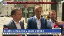 TB R. Rašiho, E. Tomáša a M. Šutaja-Eštoka o trestnom oznámení v kauze Govnet