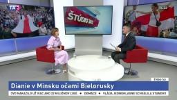 ŠTÚDIO TA3: Bieloruska Y. Kruhliková o dianí v Minsku