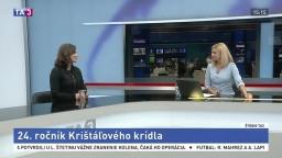HOSŤ V ŠTÚDIU: D. Barteková, nová riaditeľka Krištáľového krídla, o jeho oceneniach